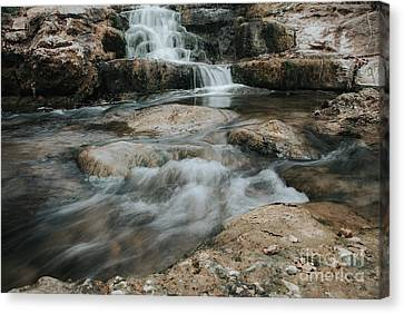 Canvas Print featuring the photograph Winter Inthe Falls by Iris Greenwell