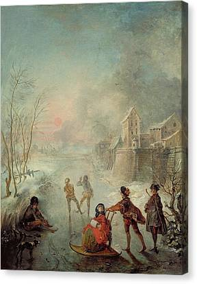 Winter Canvas Print by Jacques de Lajoue