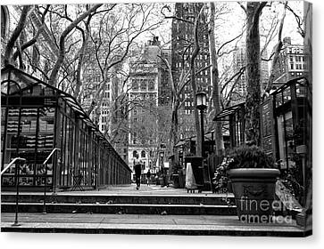 Jogging Canvas Print - Winter Jog In The Park by John Rizzuto