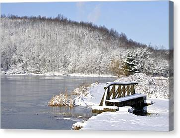 Winter Lake Canvas Print by Thomas R Fletcher