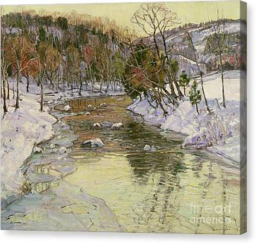 Winter Landscape Canvas Print by George Gardner Symons