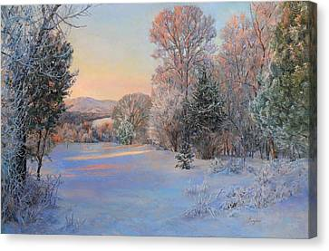 Winter Landscape In The Morning Canvas Print