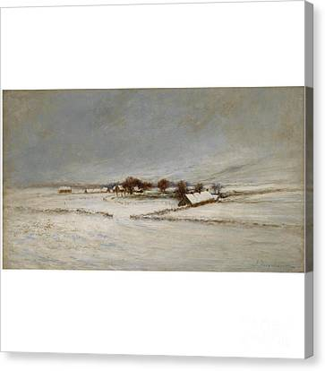 Winter Landscape Canvas Print by MotionAge Designs