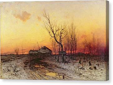 Winter Landscape Canvas Print by Julius Sergius Klever
