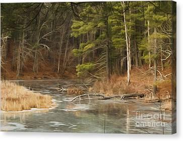 Kathy Rinker Canvas Print - Winter Landscape by Kathleen Rinker