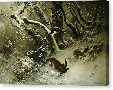 Winter Landscape Canvas Print by Ludwig Munthe