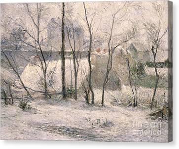 Winter Landscape Canvas Print by Paul Gauguin
