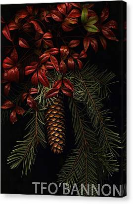 Leaves Of Winter Canvas Print