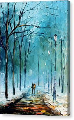 Winter Light Canvas Print - Winter by Leonid Afremov