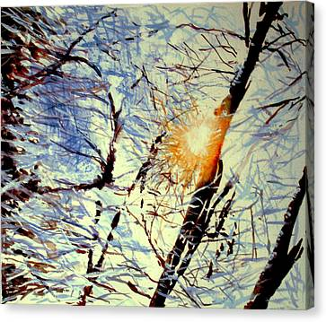 Canvas Print featuring the painting Winter Light by Allison Ashton