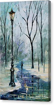 Winter Light Canvas Print by Leonid Afremov