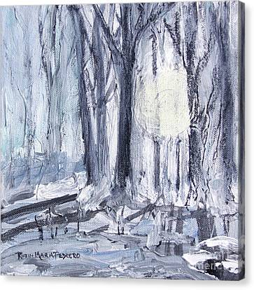 Canvas Print featuring the painting Winter Light by Robin Maria Pedrero
