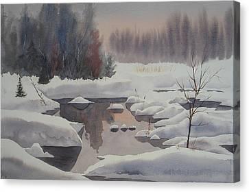 Winter Magic Canvas Print by Debbie Homewood