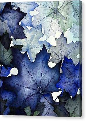 Maple Canvas Print - Winter Maple Leaves by Christina Meeusen