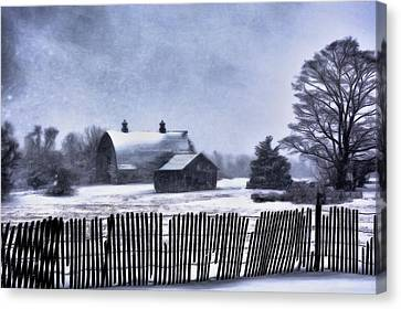 Canvas Print featuring the photograph Winter by Mark Fuller