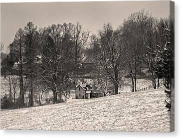 Winter Morning Canvas Print by Gordon Beck