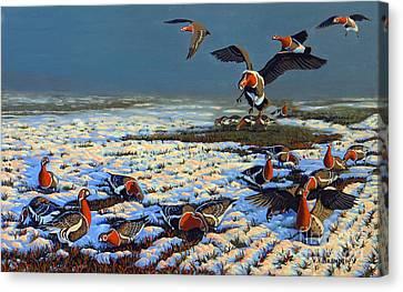Winter Morning In Primorska Dobrudja Canvas Print