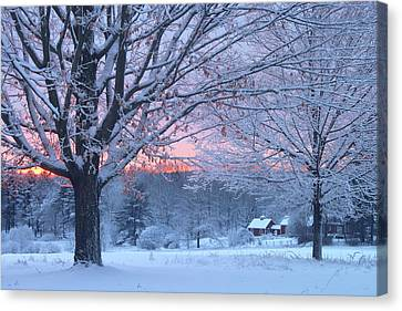 Winter Morning Canvas Print by John Burk