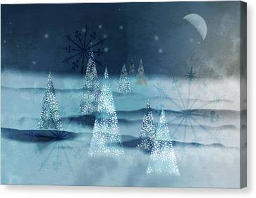 Winter Night Canvas Print by AugenWerk Susann Serfezi