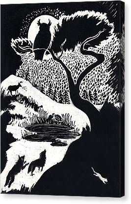 Winter Night Canvas Print by Dawn Senior-Trask
