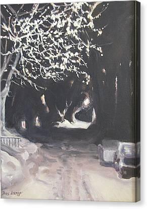Winter Night Canvas Print by Donna Lange