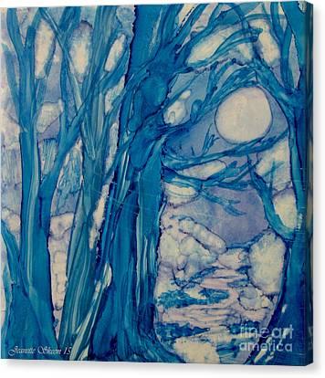 Winter Night  Canvas Print by Jeanette Skeem