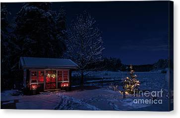 Canvas Print featuring the photograph Winter Night by Torbjorn Swenelius