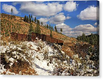 Winter On The Bizz Johnson Trail Canvas Print by James Eddy