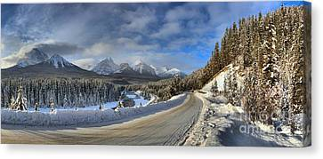 Morant's Curve On The Bow Valley Parkway Canvas Print by Adam Jewell