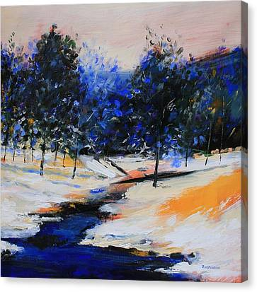 Winter On The Hill Canvas Print by Mario Zampedroni