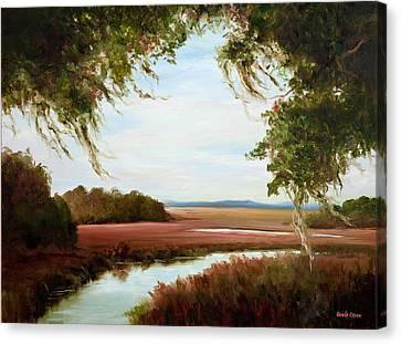 Winter On The Marsh Canvas Print