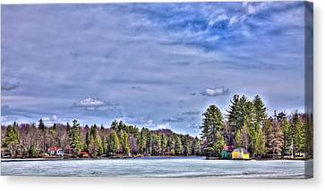 Canvas Print featuring the photograph Winter On The Pond by David Patterson