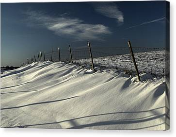Winter On The South Downs Canvas Print by Hazy Apple