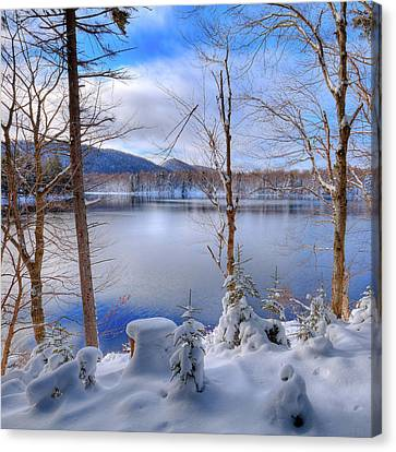 Winter On West Lake Canvas Print by David Patterson