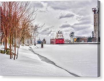 Winter Owen Sound Harbour Canvas Print