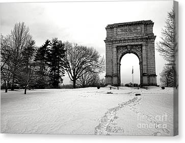 Winter Path To Glory Canvas Print by Olivier Le Queinec