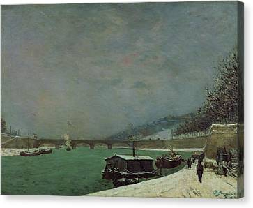 Winter Canvas Print by Paul Gauguin