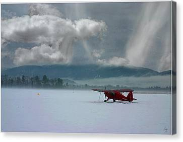 Canvas Print featuring the photograph Winter Plane by Wayne King