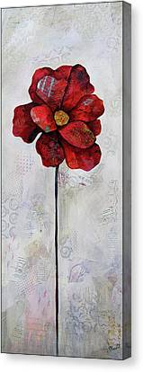 Winter Poppy II Canvas Print by Shadia Derbyshire