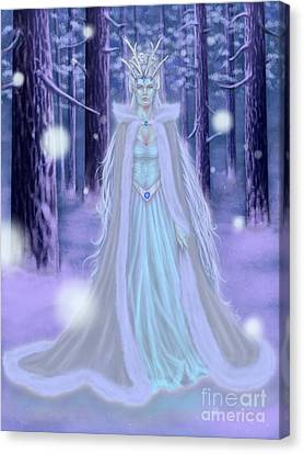 Canvas Print featuring the painting Winter Queen by Amyla Silverflame