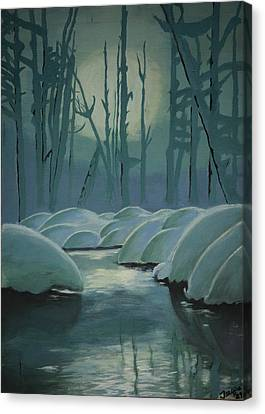 Winter Quiet Canvas Print by Jacqueline Athmann