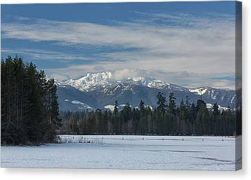 Canvas Print featuring the photograph Winter by Randy Hall