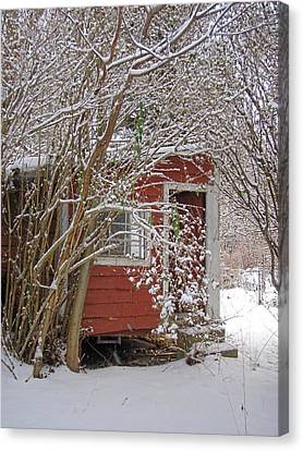 Winter Reading Room Canvas Print by Kristine Nora