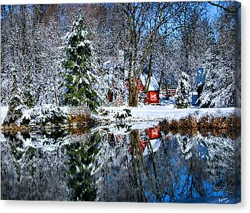 Winter Reflection Canvas Print by Kristin Elmquist