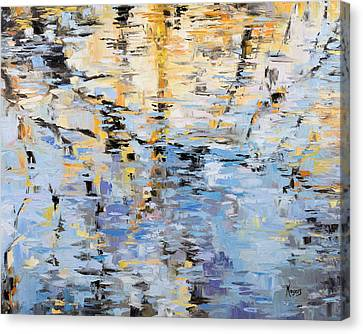 Winter Reflections Canvas Print by Mike Moyers