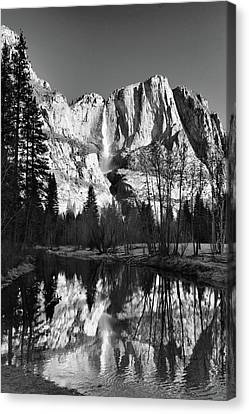 Canvas Print featuring the photograph Winter Reflections - Yosemite by Stephen  Vecchiotti