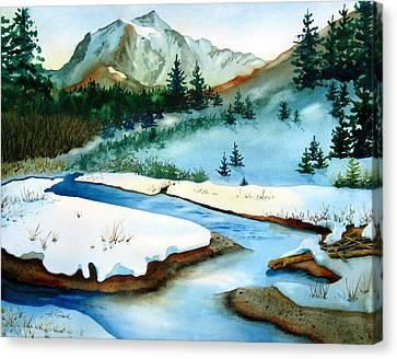 Winter Retreating Canvas Print by Karen Stark