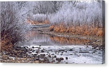 Winter River Canvas Print by Bruce Gilbert