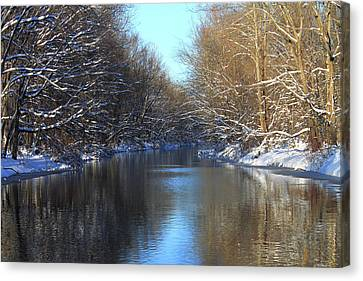 Winter River Canvas Print by Frank Romeo