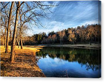 Winter River Canvas Print by Rick Friedle